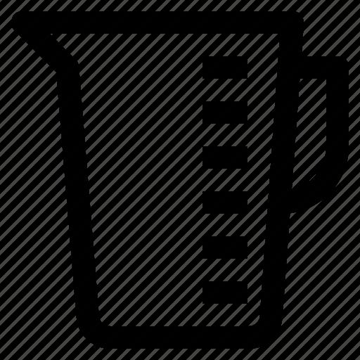 glass, kitchen, measurement, measurementglass icon