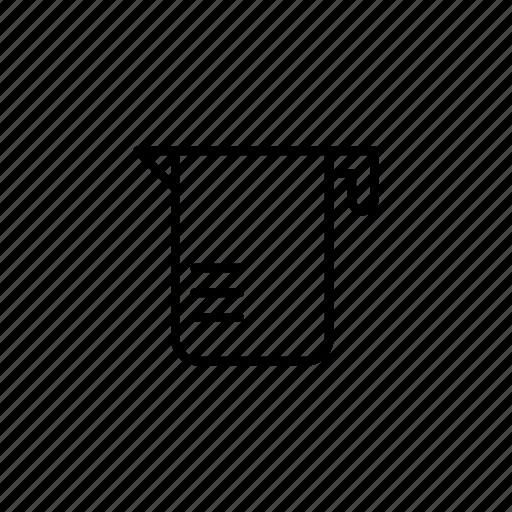 beaker, kitchen, liquid, measure, tool icon
