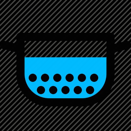 colander, food strainer, sieve, strainer icon