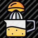 cooking, juicer, kitchen, orange, tool