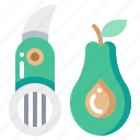 avocado, cooking, fruit, kitchen, slicer, tool icon
