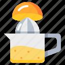 cooking, juicer, kitchen, orange, tool icon