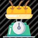 cooking, fruit, kitchen, orange, scales, tool icon