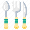 cooking, frok, kitchen, knife, spoon, tool icon