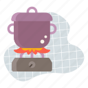 cook, cooking, food, kitchen, pot icon