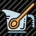 bakery, cup, ingredient, measuring, spoon