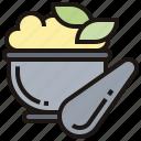 grind, herb, mortar, paste, pounder icon