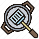cooking, kitchenware, pan, round, spatula icon
