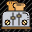 appliance, bread, breakfast, electric, toaster