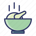 bowl, chicken, eat, kitchen, tools icon