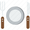 cooking, cutlery, plate icon