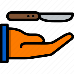 cooking, food, give, kitchen, knife icon