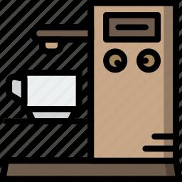 cooking, esspresso, food, kitchen, machine icon