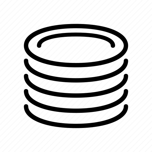dish, stacked icon
