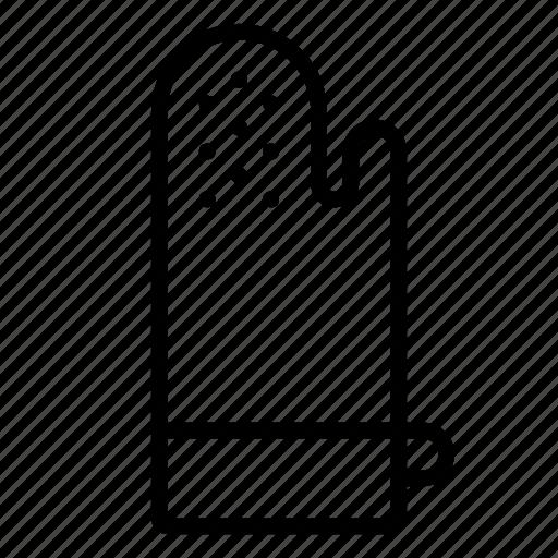 glove, kitchen icon
