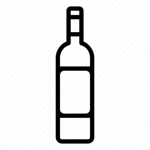 bottle, red, white, wine icon