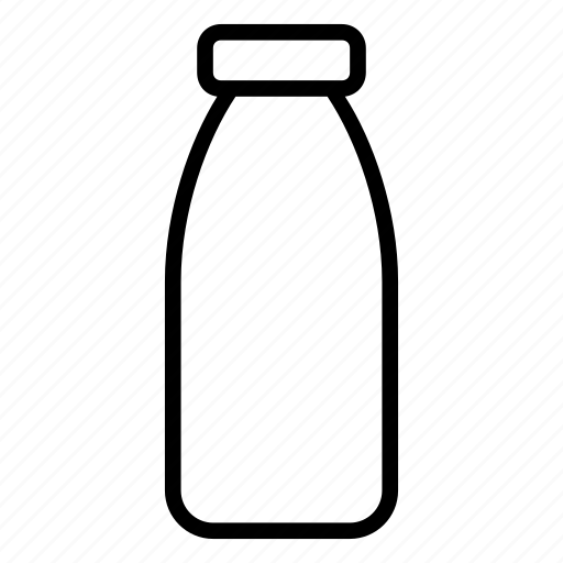 bottle, empty, milk icon