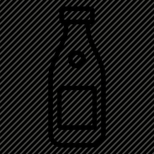 bottle, milk, tag icon