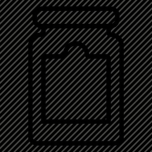 big, jam, jar, tag icon