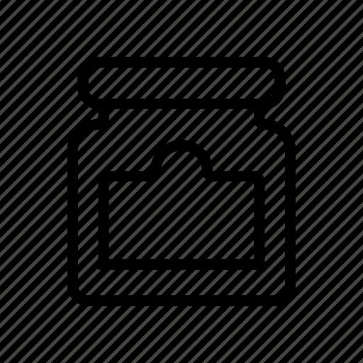 jam, jar, mini, tag icon