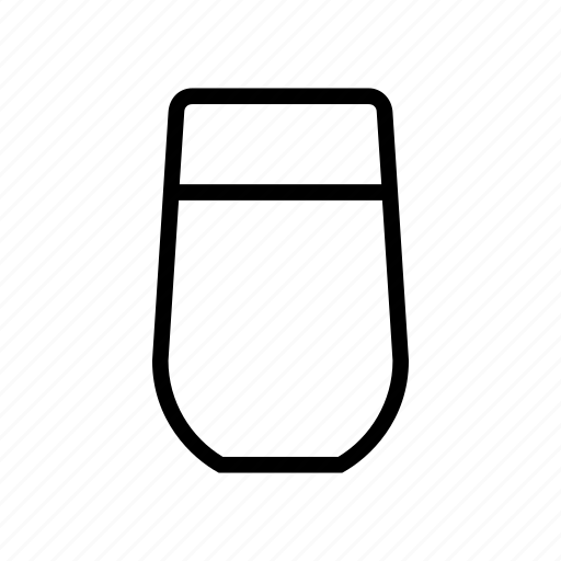 glass, juice, milk, water icon