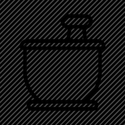 mortar, smash icon