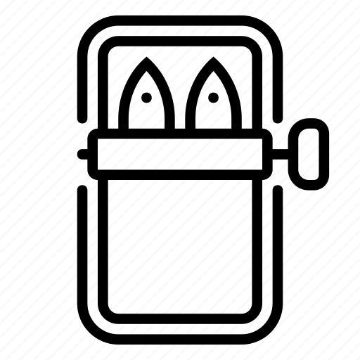 canned, opener, sardines icon