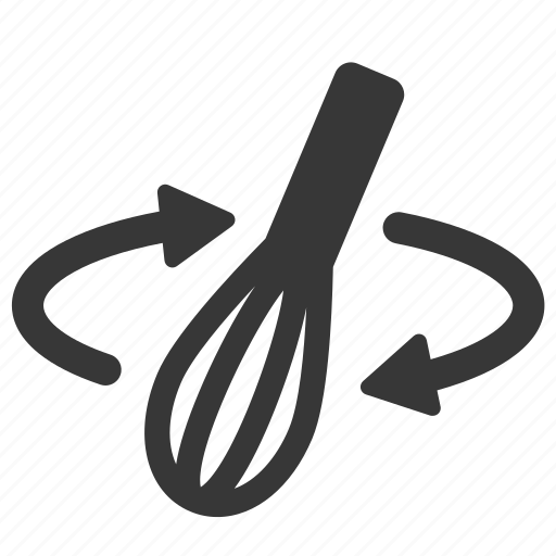 cooking, eating, kitchen utensils, raw, restaurant, simple, whisk icon