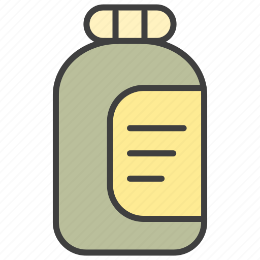 bottle, jam icon