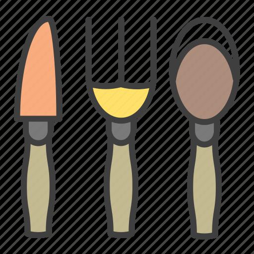 cutlery, fork, knife, spoon icon