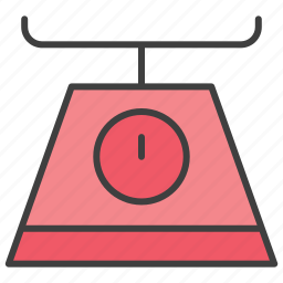 food scale, kitchen scale, scale icon