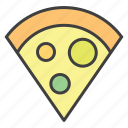 fast food, pizza, pizza slice icon