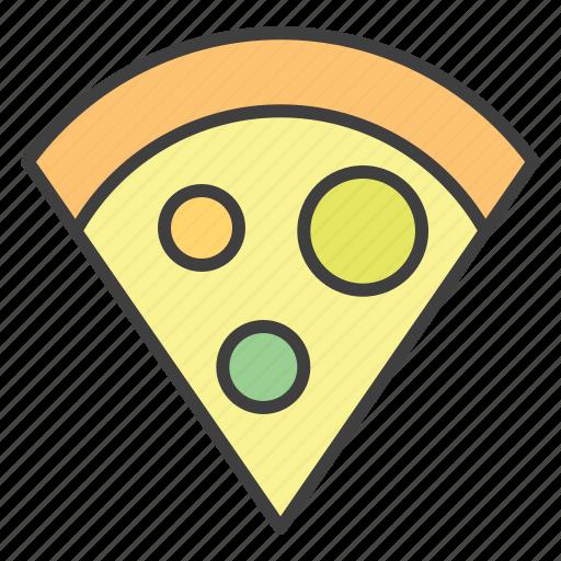 fast food, pizza, pizza slice icon