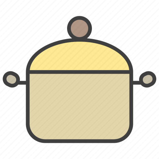 cook, food, meal, pot icon