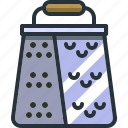 cheese, cooking, grater, kitchen, utensil icon