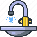 bathroom, clean, kitchen, sink, tap, wash, washing icon