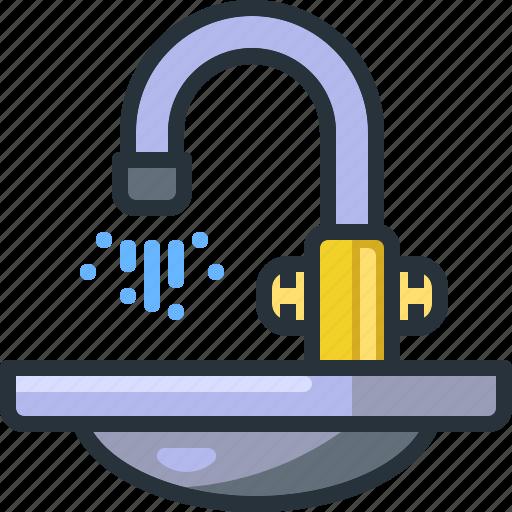 bathroom, clean, kitchen, sink, tap, wash, washing icon