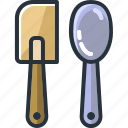 appliance, household, kitchen, spatula, spoon, utensil icon