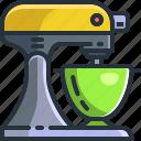 bake, baking, cooking, kitchen, mix, mixer, whisker icon