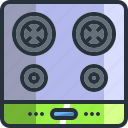 appliance, cook, cooker, cooking, kitchen, stove, top icon