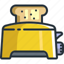 appliance, bread, cooking, food, kitchen, toaster