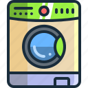 bathroom, clean, cleaning, laundry, machine, wash, washing icon