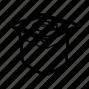 metallic container