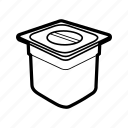 metallic container icon