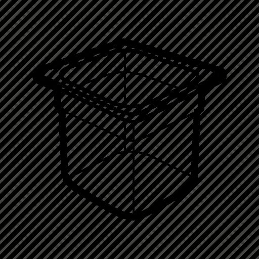 plastic transparent container icon