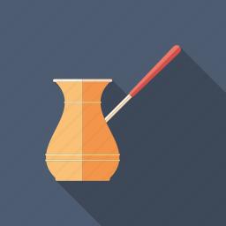 arabic, coffee, cook, equipment, kitchen, pot, turkish icon