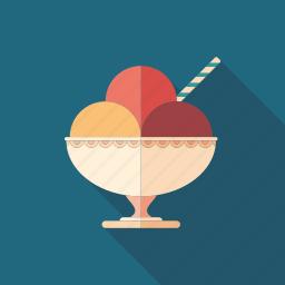 bowl, cream, dessert, food, fruit, ice, sorbet icon