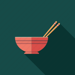 bowl, chinese, chopsticks, cooking, health, kitchen, traditional icon