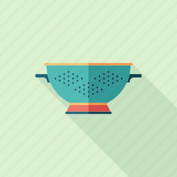 bowl, colander, cooking, dish, kitchen, plastic, utensil icon