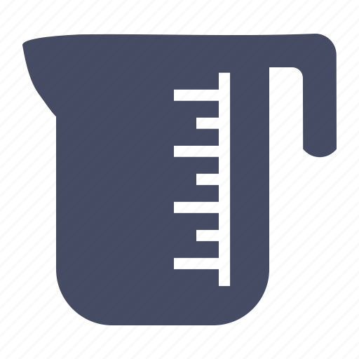 cup, jar, jug, kitchen, measure, measureing, water icon